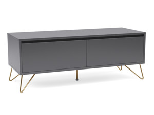 Hairpin Tv Stand 2 Drawer Stylo Dark grey