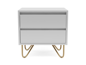 Bedside Pedestal Stylo Satin Light Grey