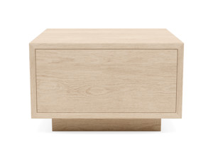 Oak Floating Pedestal Antares Clear Finish