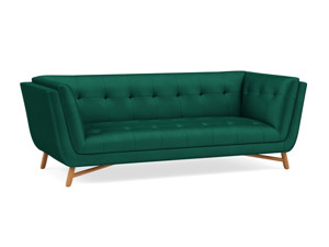 3 Seater Sofa Margot Emerald Green Velvet
