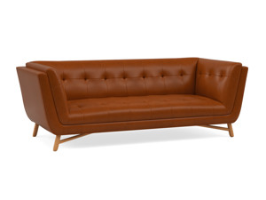 3 Seater Sofa Margot Tan Brown Premium Leather
