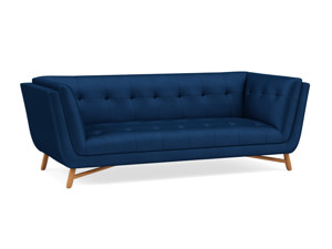 3 Seater Sofa Margot Eclipse Navy Blue Velvet