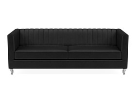 3 Seater Sofa Paven Black Velvet