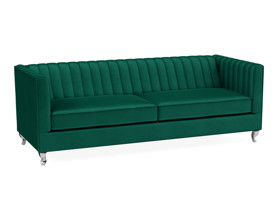 3 Seater Sofa Paven Emerald Green Velvet