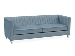 3 Seater Sofa Paven Heaven Light Blue Velvet
