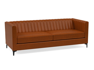 3 Seater Sofa Paven Tan Brown Premium Leather