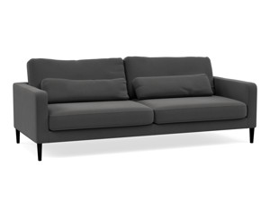 Syrin 3 Seater Couch - Mayfair Graphite Grey Fabric