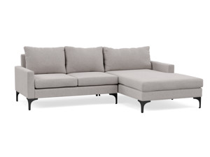 Corner Chaise Sofa Urban Cement Grey