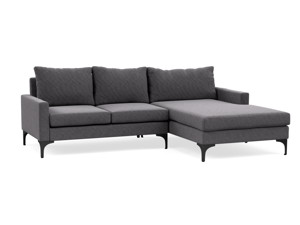 Corner Chaise Sofa Urban  Salon Silver Grey
