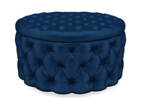 Storage Ottoman Julianne Eclipse Navy Blue Velvet