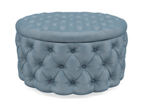 Storage Ottoman Julianne Heaven Light Blue
