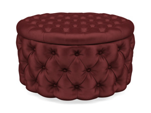 Storage Ottoman Julianne Port Wine Red Velvet