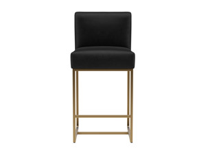 Bar Stool Vena Phantom Black Velvet