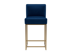 Bar Stool Vena Eclipse Navy Blue Velvet
