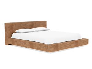 Floating Platform Bed Antares Walnut Finish