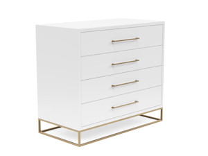 4 Drawer Server Lilo  Satin White