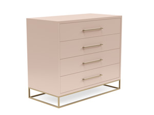 4 Drawer Server Lilo Satin Blush pink