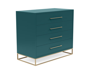 4 Drawer Server Lilo  Satin Turquoise