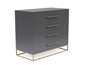 4 Drawer Server Lilo Satin Dark Grey