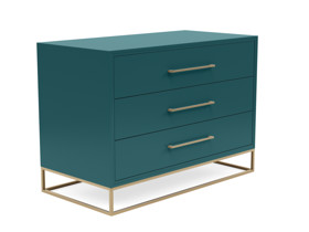3 Drawer Server Lilo  Satin Turquoise