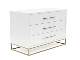 3 Drawer Server Lilo  Satin White