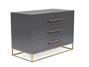 3 Drawer Server Lilo Satin Dark Grey