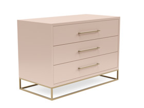 3 Drawer Server Lilo Satin Blush Pink