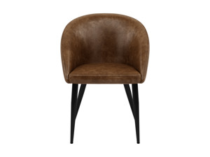 Dining Chairs Cuba Saddle Brown Set of 2