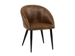 2 Dining Chairs Cuba Saddle Brown