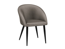 2 Dining Chairs Cuba Silver Lining Grey Velvet