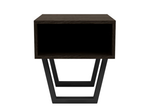 Oak Bedside Pedestal Motto Intense black