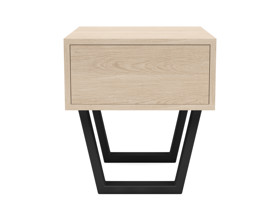 Bedside Pedestal Motto 1 Drawer Oak Clear Finish