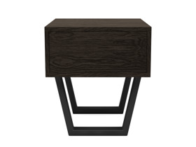 Bedside Pedestal Motto 1 Drawer Intense Black