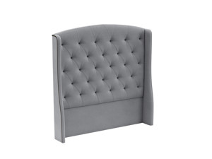 Tufted Headboard Phoenix Salon Silver Grey