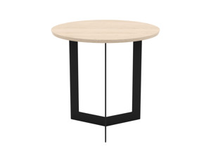 Oak Side Table Toba Oak top black legs