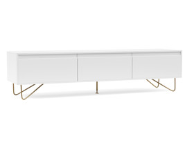 TV Cabinet Stylo Satin White