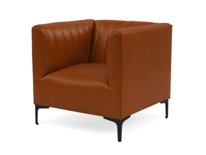 One Seater Couch Paven Tan Premium Leather