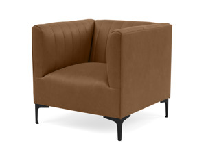 One Seater Couch Paven Wild Whiskey Premium Leather