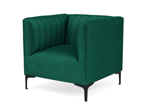One Seater Couch Paven Emerald Green Velvet