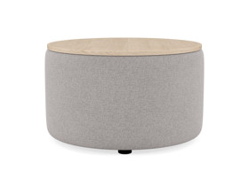 Coffee Table Culla Cement Fabric with Oak Top