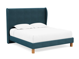 Platform Bed Solar Adriatic Blue Velvet