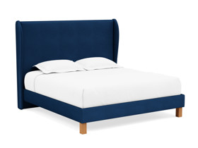 Platform Bed Solar Eclipse Blue Velvet