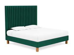 Platform Bed Sirius Emerald Green Velvet