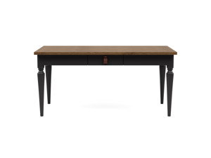4-6 Seater Dining Table Nimbus Vintage Brown Top Charcoal Legs