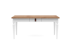 4-6 Seater Dining Table Nimbus Walnut Top White Legs