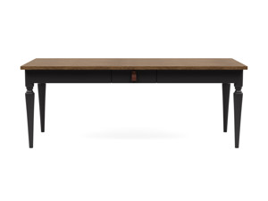 6-8 Seater Dining Table Nimbus Vintage Brown Top Charcoal Legs