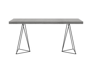 Desk Texa Monsoon Grey Oak Top Black Legs