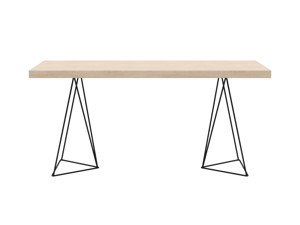 Desk Texa Oak Top Black Legs