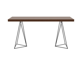 Desk Texa French Walnut Top Black Legs