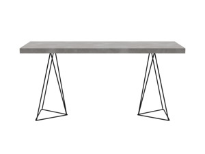 Desk Texa Urban Steel Top Black Legs